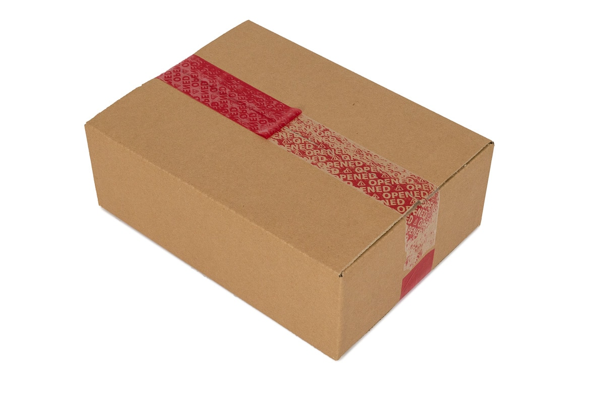Security tape rood - 50mm x 50m