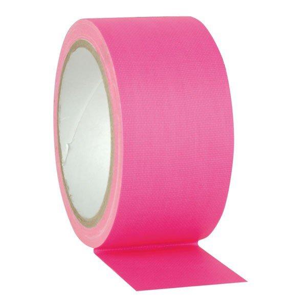 Fluor Gaffa tape roze - 50mm x 25m